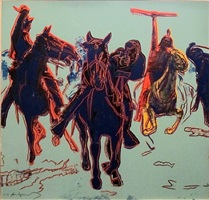 cowboys & indians - action picture [ii.375] by andy warhol